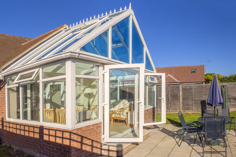 Glass Conservatory In West Midlands United Kingdom Clear